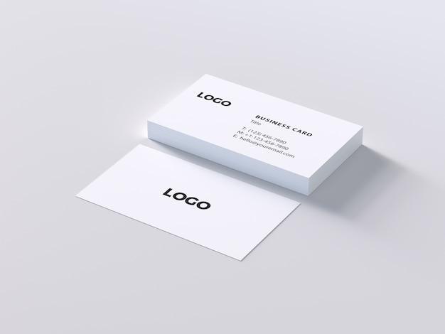 Weiße Visitenkarte Mock Up Premium Psd Datei