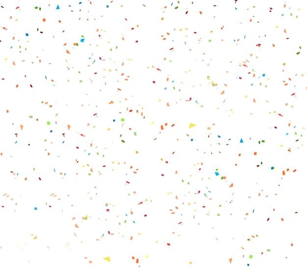Weißer konfettihintergrund Premium PSD