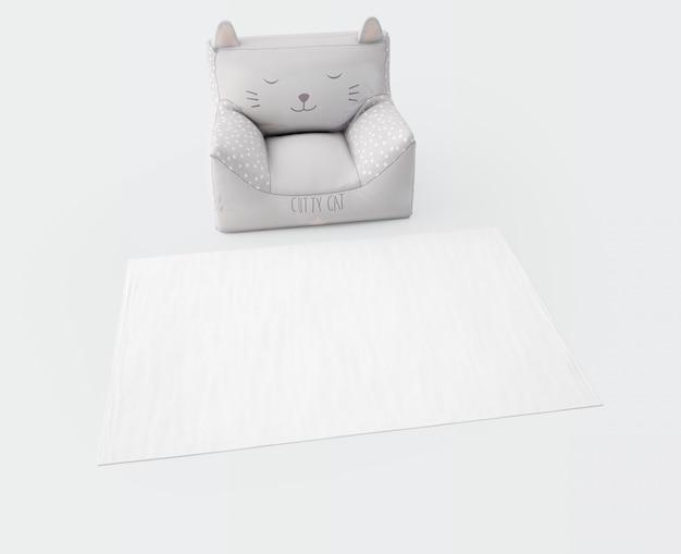 Weißer teppich und weicher sitz Kostenlosen PSD