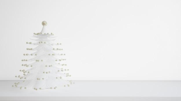 Weißer weihnachtsbaum Kostenlosen PSD