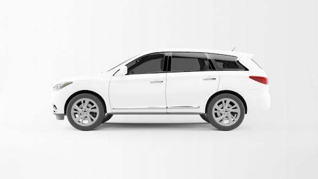 Weißes auto isoliert Kostenlosen PSD