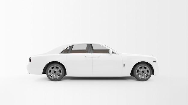 Weißes langes auto Kostenlosen PSD