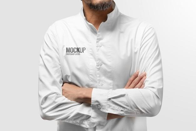 Weißes sauberes hemdmodell Premium PSD
