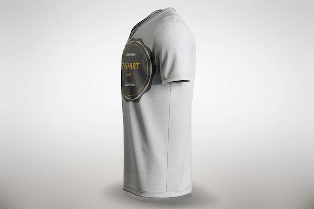 Weißes t-shirt mock up seitliche ansicht Kostenlosen PSD