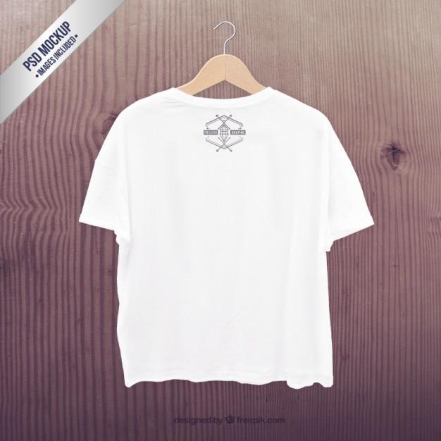 Weißes t-shirt mockup Kostenlosen PSD