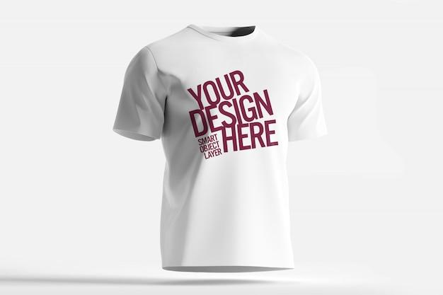 Weißes t-shirt modell Premium PSD