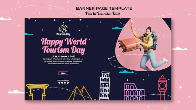 Welttourismus tag banner vorlage Kostenlosen PSD
