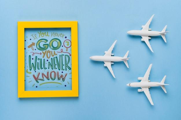 Wenn du nie gehst, wirst du es nie erfahren, wenn du über reisen schreibst Kostenlosen PSD