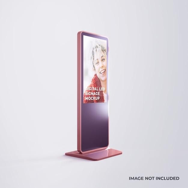 Werbemodell für digitale led-beschilderung Premium PSD