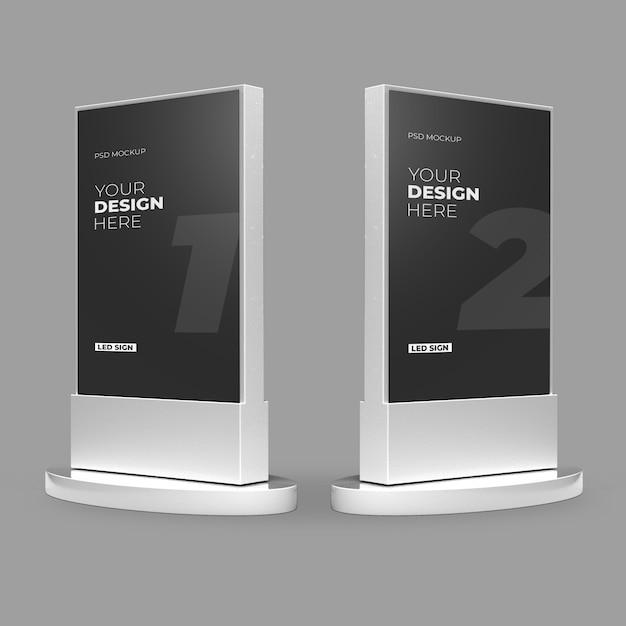 White metallic led light box modell Premium PSD