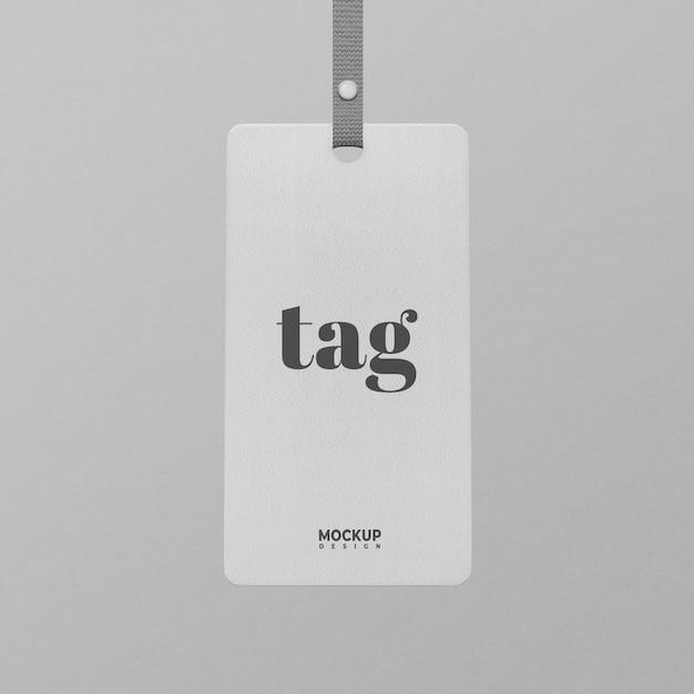 White-tag-label-mockup-design isoliert Premium PSD
