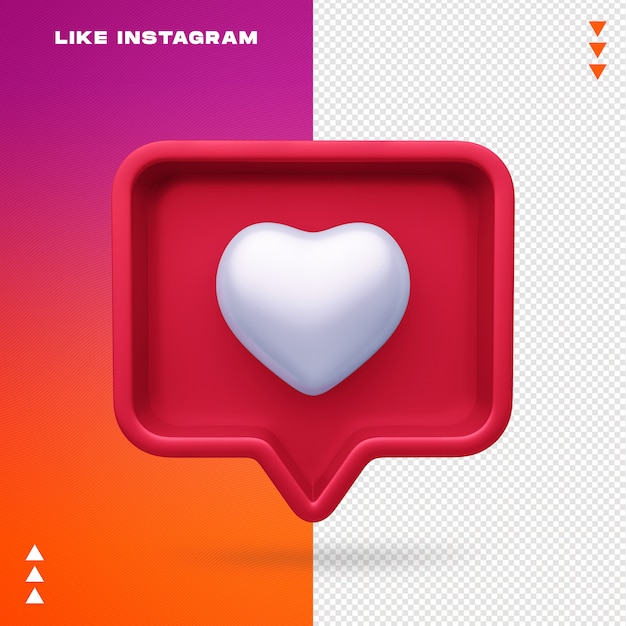 Wie instagram isoliert Premium PSD