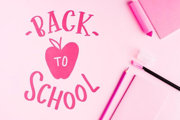 Wohnung lag zurück in die schule mit rosa hintergrund Kostenlosen PSD