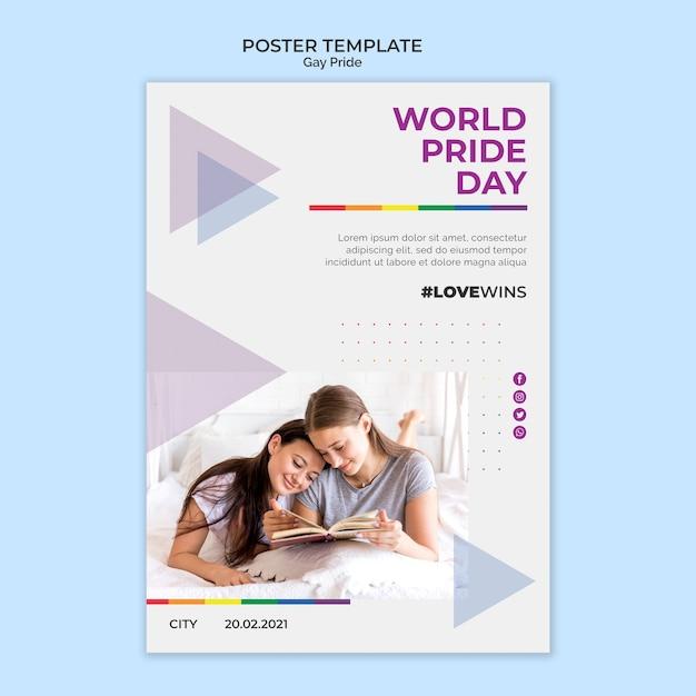 World pride day poster vorlage design Kostenlosen PSD