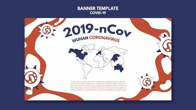 Wuhan coronavirus banner vorlage Kostenlosen PSD