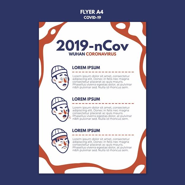 Wuhan coronavirus flyer Kostenlosen PSD