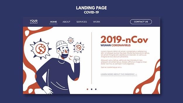 Wuhan coronavirus landing page Kostenlosen PSD