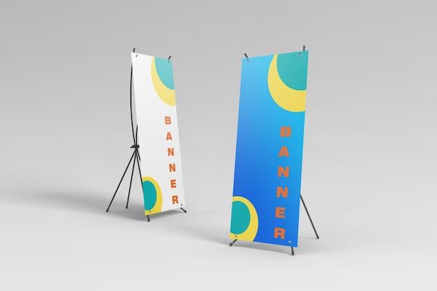 X banner mockup Kostenlosen PSD