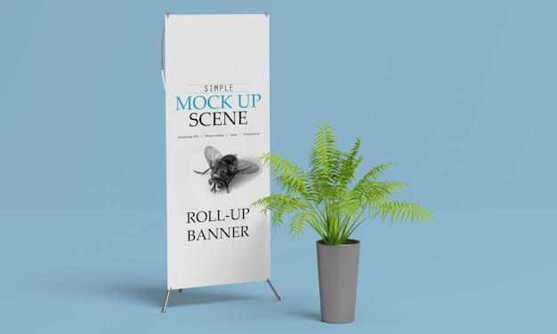X-banner oder roll up standmodell Premium PSD