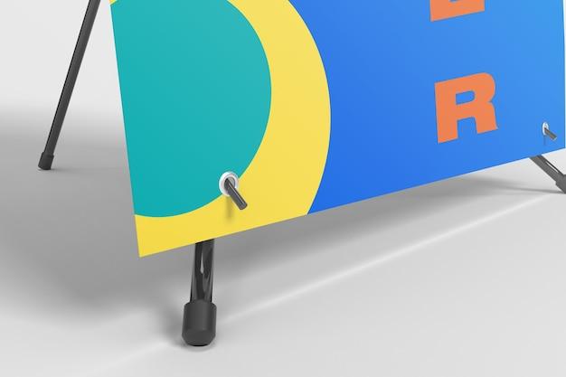 X banner zoom mockup Kostenlosen PSD