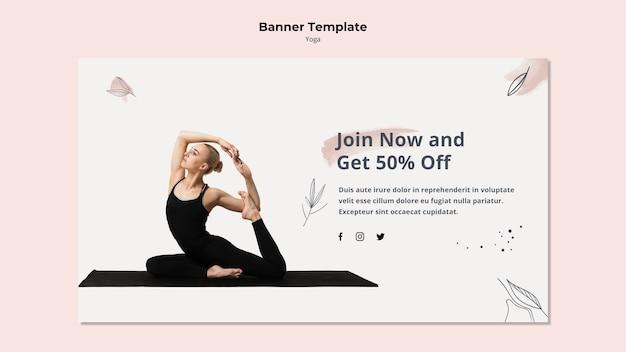 Yoga banner vorlage mit rabatt Kostenlosen PSD