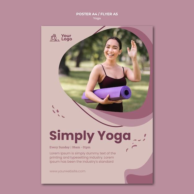 Yoga klasse vorlage poster Kostenlosen PSD