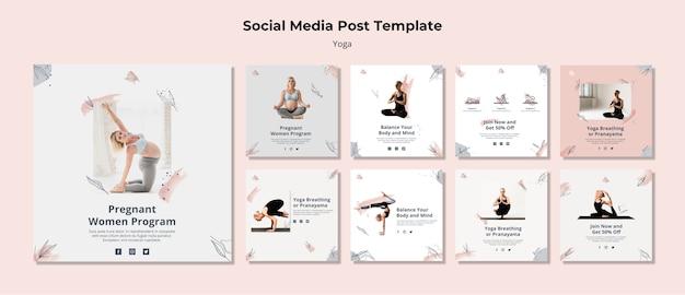 Yoga social media post vorlage Kostenlosen PSD