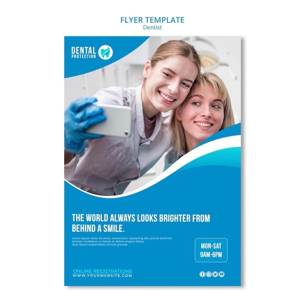 Zahnarzt flyer vorlage konzept Kostenlosen PSD