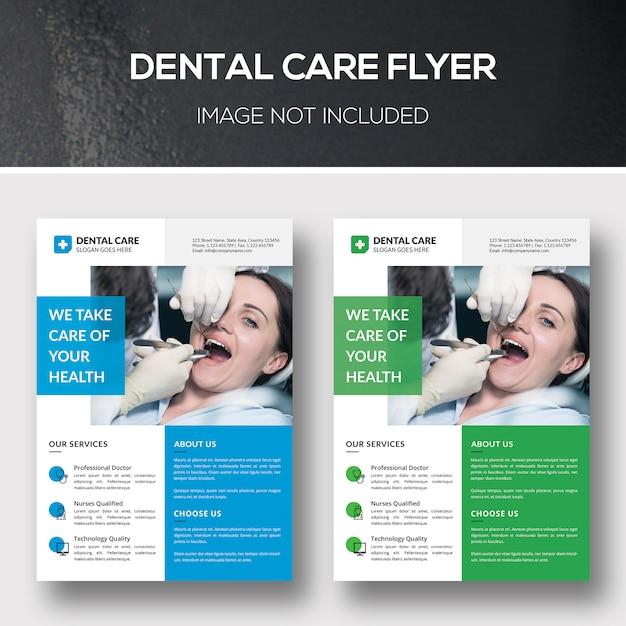 Zahnpflege-flyer Premium PSD