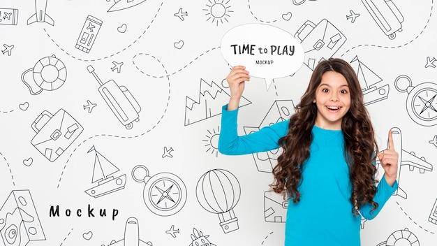 Zeit, ein smiley-mädchen zu spielen Kostenlosen PSD