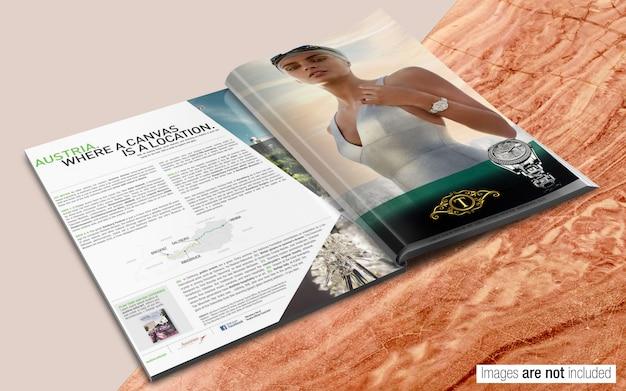 Zeitschrift psd mockup Premium PSD