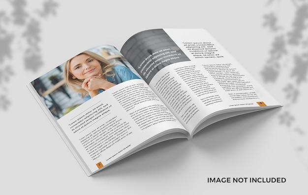 Zentriertes offenes magazin vom draufsichtmodell Premium PSD