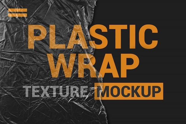 Zerrissenes stück durchsichtiges plastikfilmmodell Premium PSD