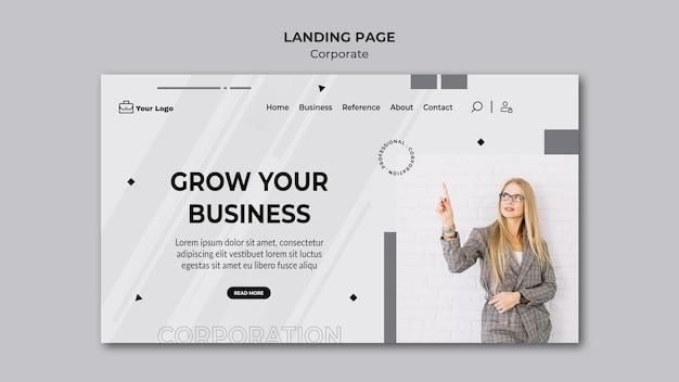 Zielseite der corporate design-vorlage Premium PSD