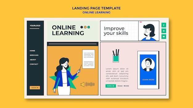 Zielseite der online-lernvorlage Kostenlosen PSD