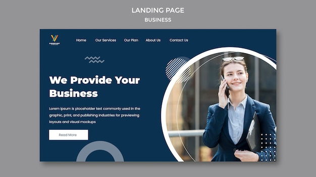 Zielseitenvorlage für die agentur für digitales marketing Kostenlosen PSD
