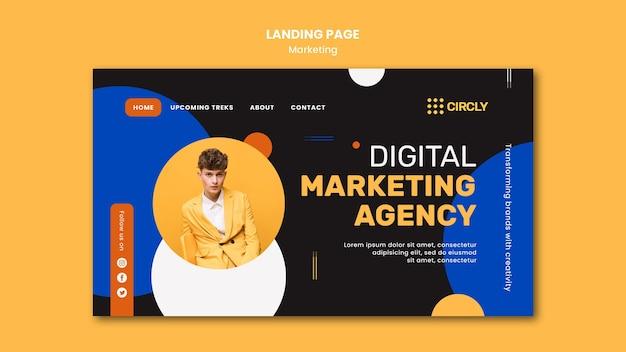 Zielseitenvorlage für digitales marketing Premium PSD