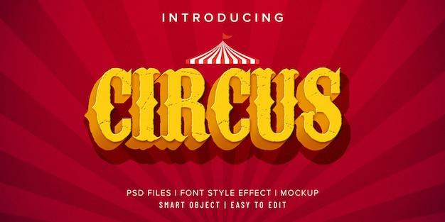 Zirkus vintage schriftschnitt-effekt-modell Premium PSD