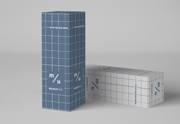 Zwei kartons verpackungsmodell Premium PSD
