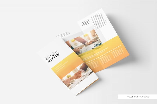 Zweifach gefaltete broschüre Premium PSD