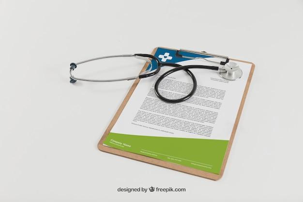 Zwischenablage und stethoskop Kostenlosen PSD
