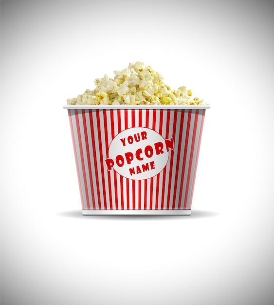 Zylindrisches popcorn-box-modell free psd Premium PSD