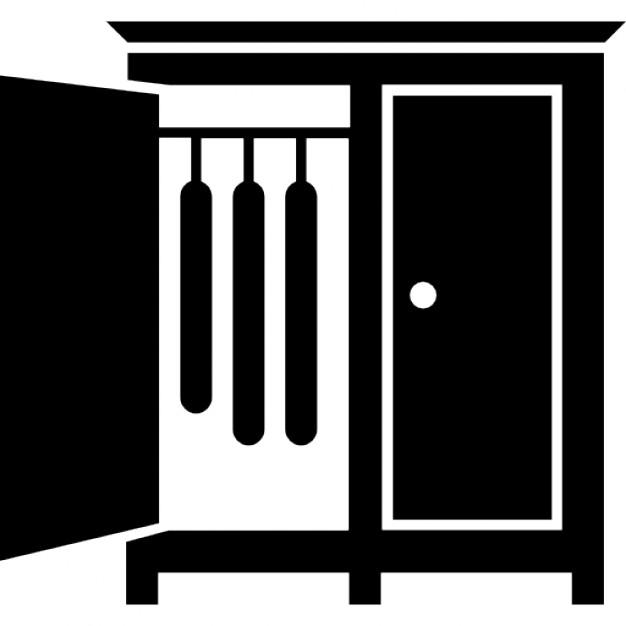 Armadio camera da letto con la porta aperta del lato per - Porta abiti da camera ...