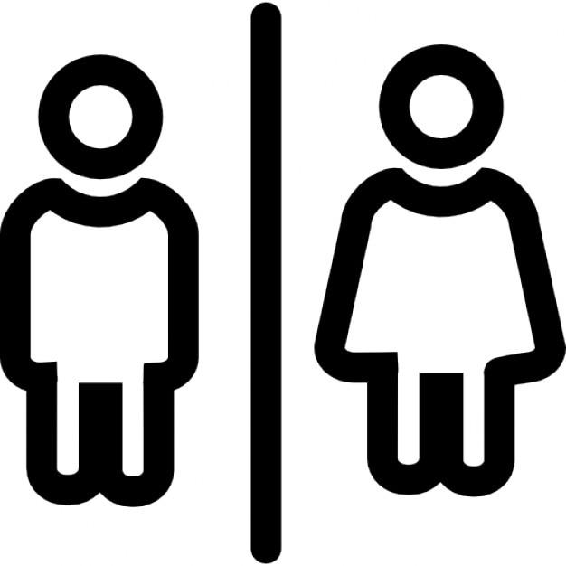 Bagni per uomini e donne delinea segno | Scaricare icone gratis