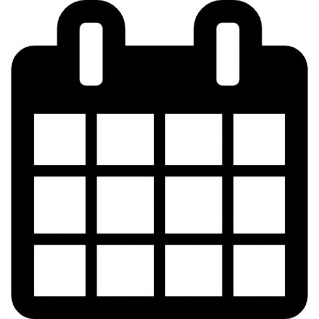 calendario con raccoglitore molla e blocca data