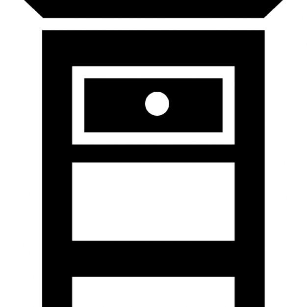Camera da letto mobili tavolino per lato del letto | Scaricare icone ...