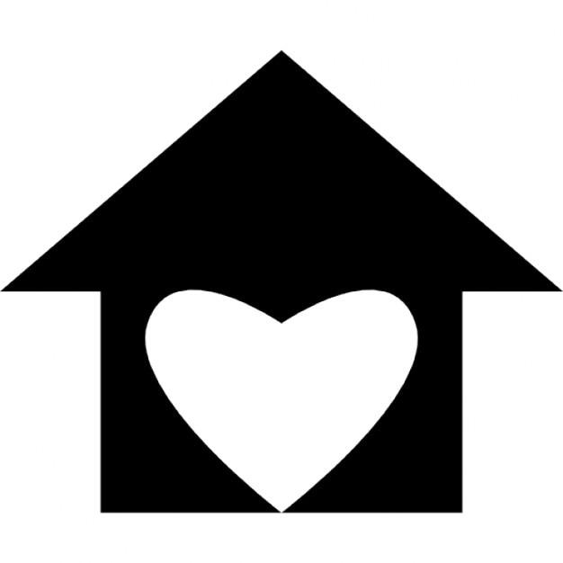 Casa con amore forma di cuore scaricare icone gratis for Casa a forma di v