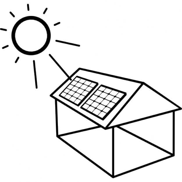Pannello Solare Gratis : Casa con pannello solare installato scaricare icone gratis