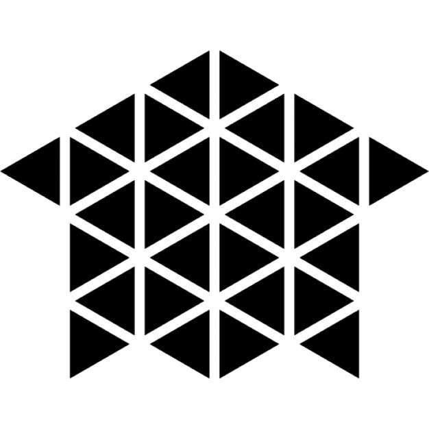 casa poligonale o di costruzione di casa scaricare icone