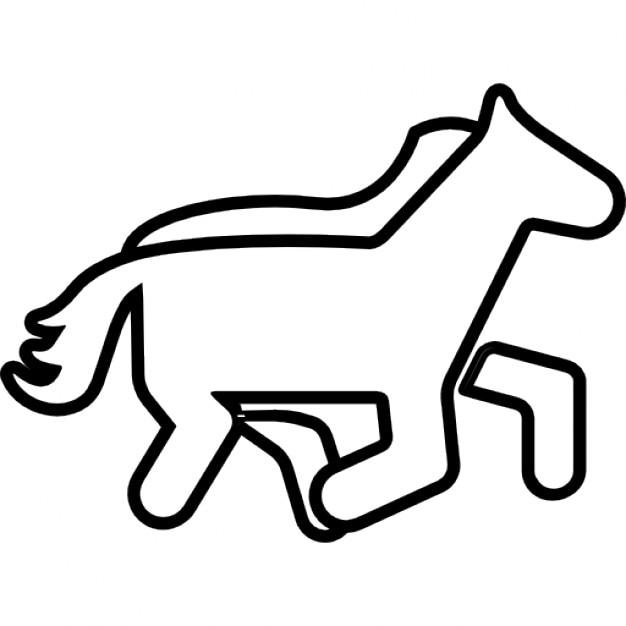Cavallo contorno cartone animato scaricare icone gratis